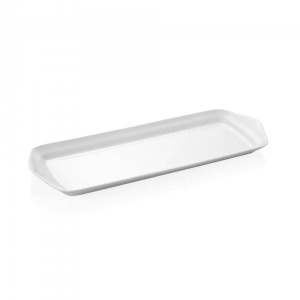 Servierplatte - Porzellan - mit Lappengriffen