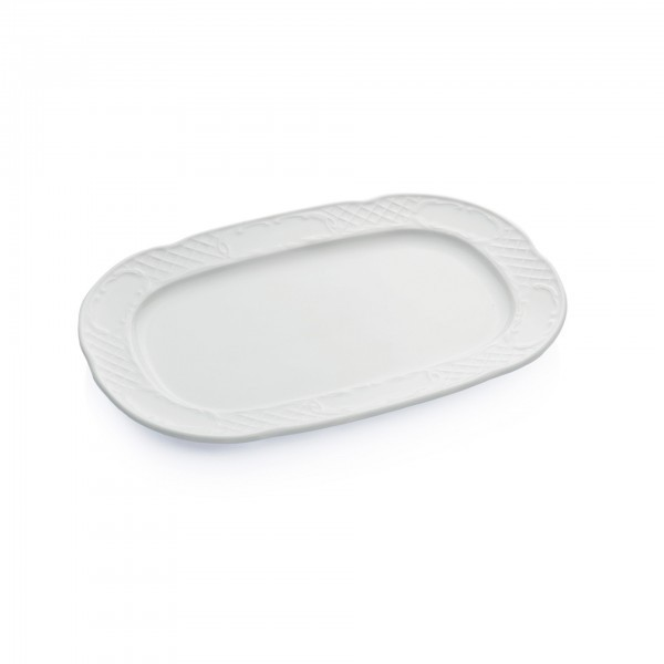 Servierplatte - Serie Bavaria - Porzellan - mit Dekorrand - premium Qualität