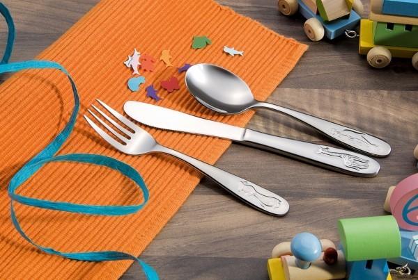 Kinderbesteck - Serie Marie - Chromnickelstahl - hochglanzpoliert - premium Qualität