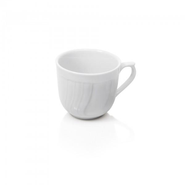 Cappuccino-Tasse - Serie Rosengarten - Porzellan - mit Dekorrand