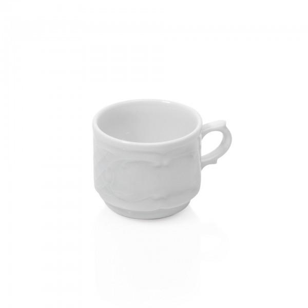 Espresso-Tasse - Serie Bavaria - Porzellan - mit Dekorrand - premium Qualität